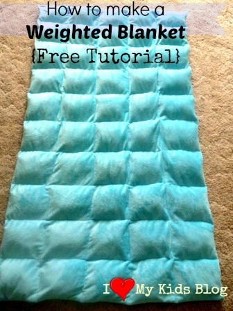 Free Tutorial on how to make a DIY Weighted Blanket - Can help calm people with Autism!