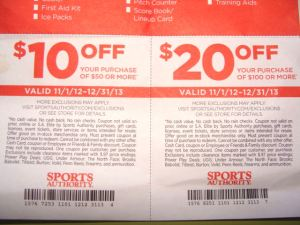 New Sports Authority coupons 10 off and 20 off