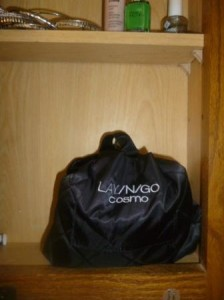 lay n go cosmo in my medicine cabinet