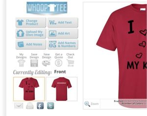 Whoop Tee edit front or back