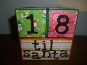 countdown to santa giveaway blocks