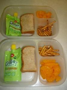 Go go squeeze in lunch box