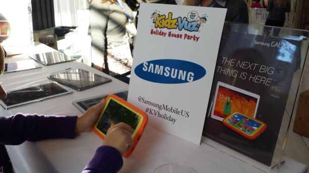Samsung Kids Kiosk area  which had the latest kids tablets