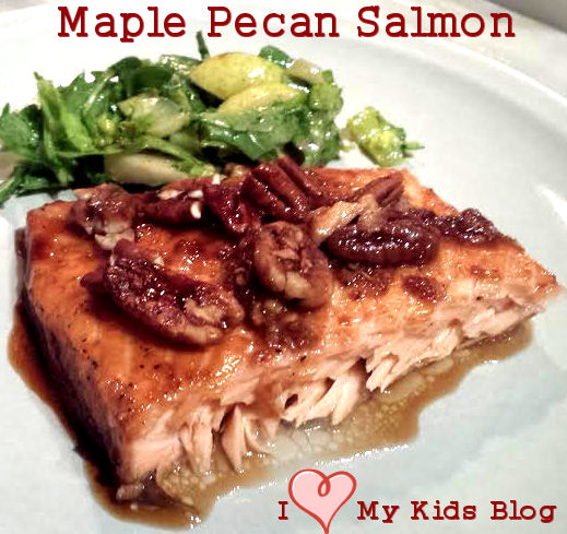 Maple Pecan Salmon recipe