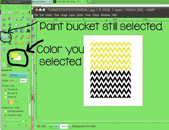 how to change color on gimp