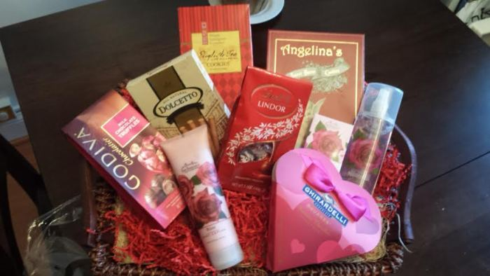 Spa and Chocolate Valentine's Basket