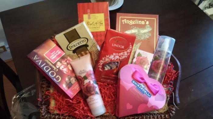 Spa and Chocolate Valentine's Basket