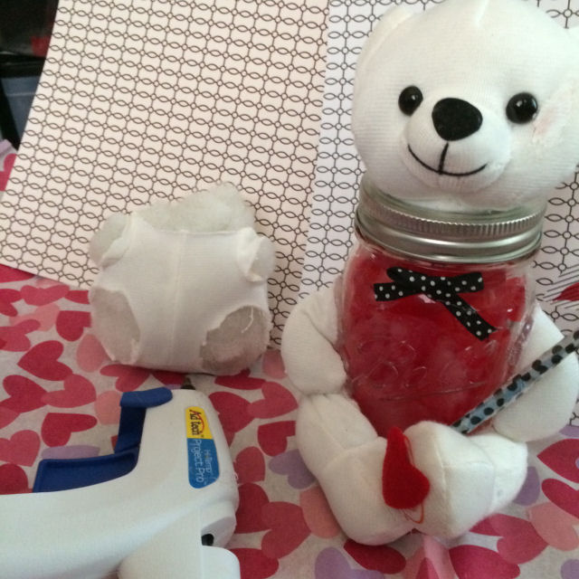 bear surgery for valentines day craft