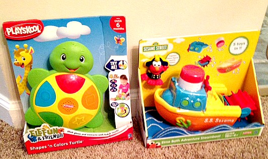 Shapes N Colors and Steam Boat Elmo