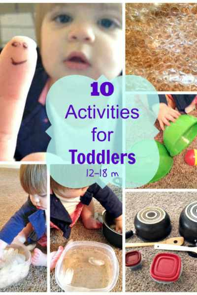 10 Toddler Activities: 12 to 18 Months