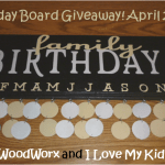 A Birthday Board Makes A Perfect Mother's Day Gift! {Giveaway}