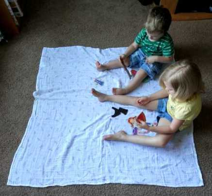 Kids on Aden Anais blanket