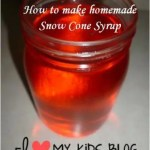 How to make homemade snow cone syrup {Recipe}