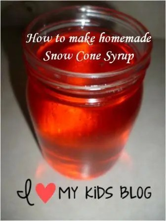 how to make homemade snow cone syrup 6