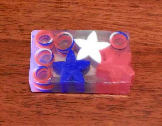 Red, White Blue Soap