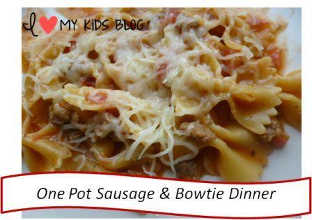 Bowtie sausage pasta 5