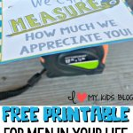 "We Can't ""Measure"" How Much We Appreciate You Thank You Note for Men (FREE PRINTABLE)"