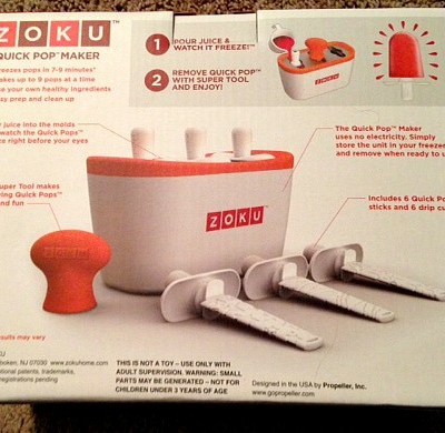 Zoku Quick Pop Maker and Storage Case- The Fun Way to Make Popsicles {Review}