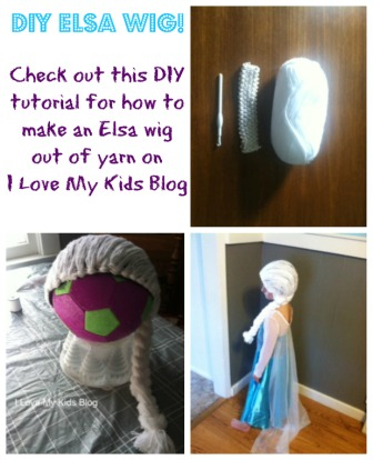 DIY Tutorial – How to make a Frozen Elsa wig out of yarn!