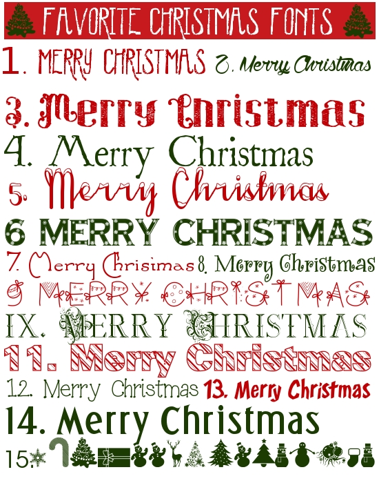 FAvorite Christmas fonts1