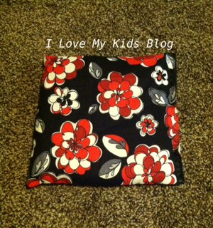 DIY microwaveable flax bag friend gift