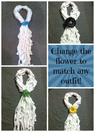 t-shirt scarf many options change flower small