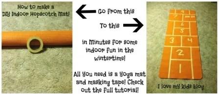 How to make a DIY indoor hopscotch mat