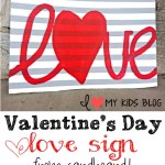 """Wow"" your guests with this DIY Valentines Day LOVE sign from cardboard!"