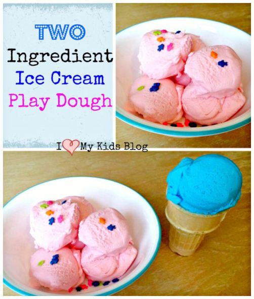 diy 2 ingredient ice cream play dough