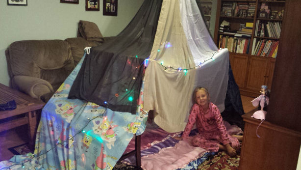 how to build an indoor tent