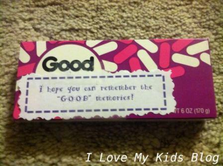 Grief Gift basket Good and Plenty
