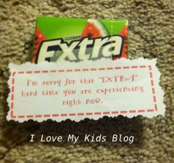 grief Gift basket extra gum