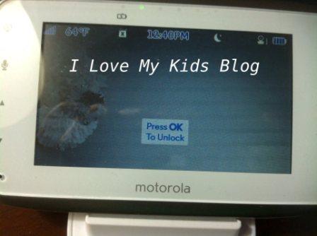 Motorolla video baby monitor MBP854  auto lock
