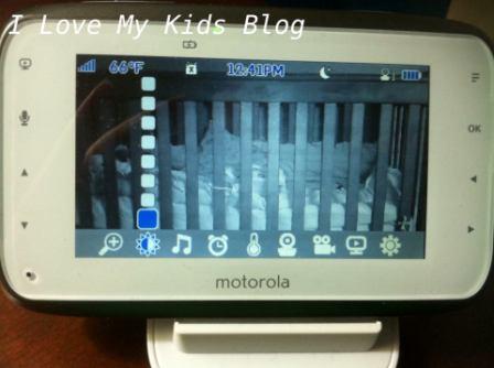 Motorolla video baby monitor MBP854   screen brightness