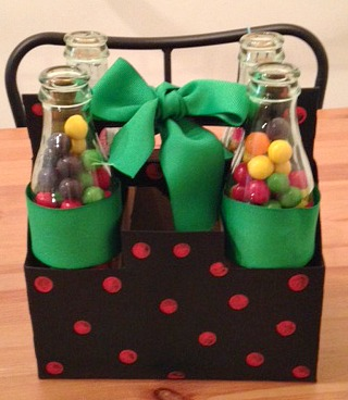 DIY Carton and Soda Bottle Fathers Day Candy Gift