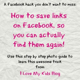 How to save links on facebook hack button blog