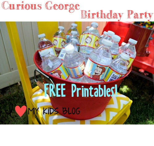 Curious George Birthday Party on a budget-- LOTS of free printable's!