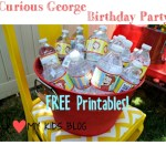 Curious George Birthday Party on a budget– LOTS of free printable's!