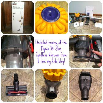blogger review of Dyson V6 Slim cordless vacuum button