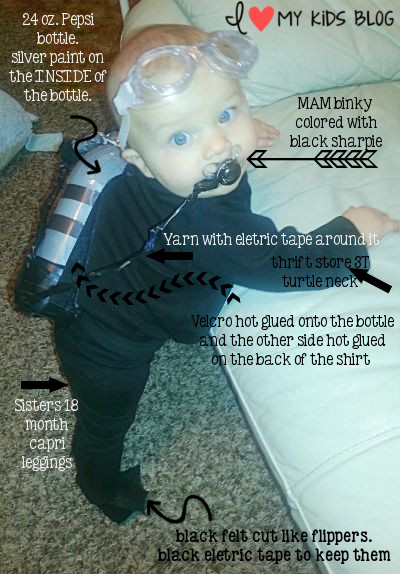 baby scuba diver costume instructions