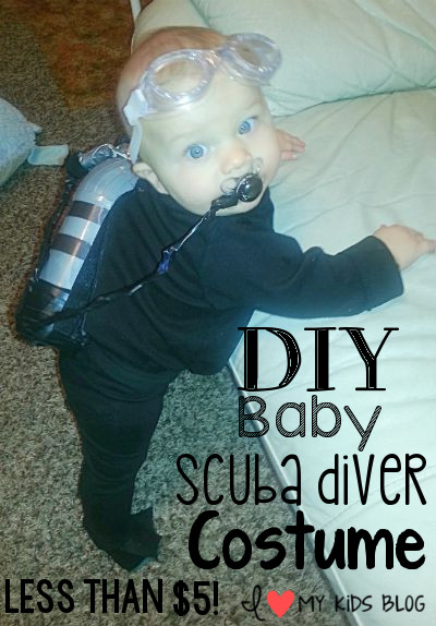 Diy baby scuba diver costume less than 5 to make baby scuba diver costume words solutioingenieria Gallery