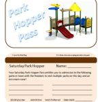 Fun Hometown Park Hopper Pass Idea for the Kiddos!