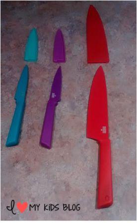 Kuhn Rikon Colori knife have covers