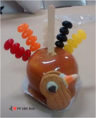 Thanksgiving treat idea turkey apples gift