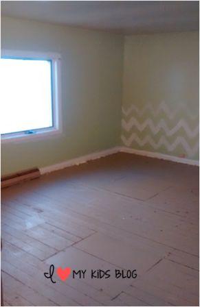bedroom before wallpaper