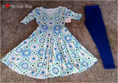 LuLaRoe Nicole dress and leggings