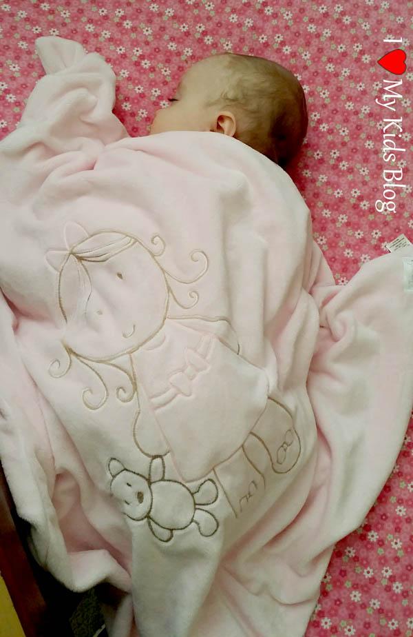 Whimsical Charm Lil Girl Stroller Blanket