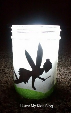Fairy jar glowing