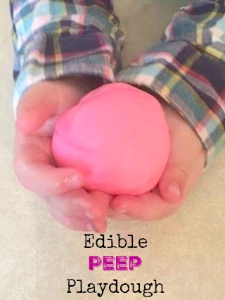DIY peep playdough