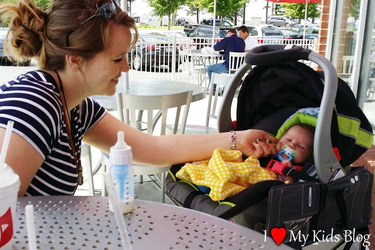 GoTo 2-in-1 car seat holder outdoors